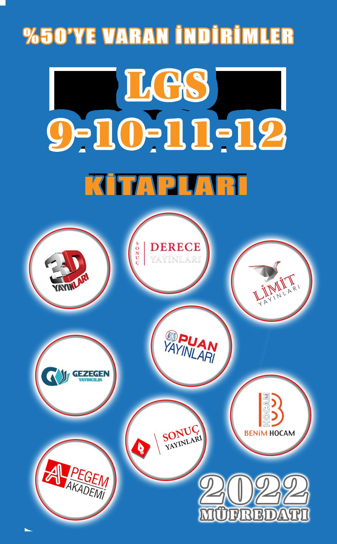 9-10-11-12. SINIF KİTAPLARI