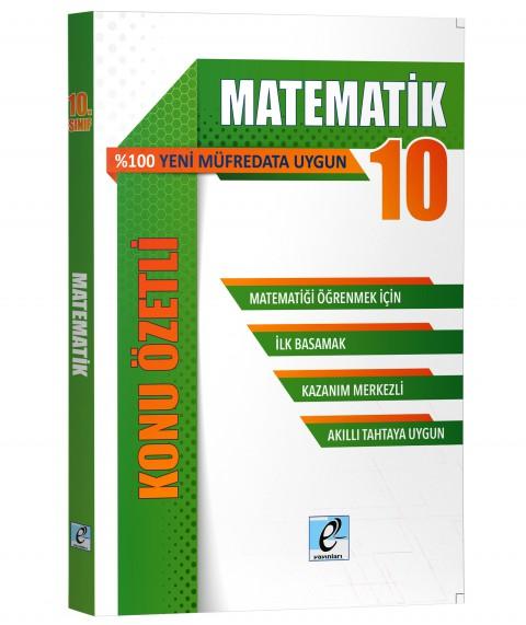 E Kare Yayınları 10. Sınıf Matematik - Kö-sb- 2020-2021