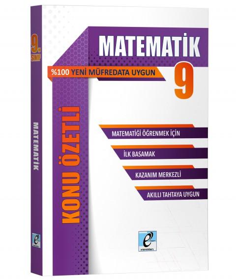 E Kare Yayınları 9.sınıf Matematik -kö-sb- 2020-2021